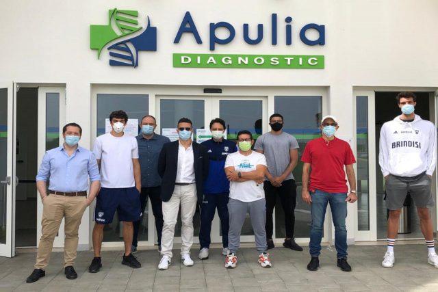 Test sierologici per giocatori e staff presso il Top Sponsor Apulia Diagnostic